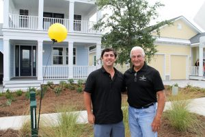 Matt McGarvey of McGarvey Residential Communities (left) and Stuart McDonald at Sea View.