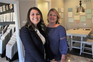 Alexis Kokolias (left) and Karen Roske at the Generation Homes Design Center